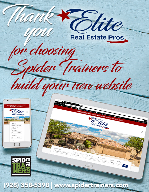 Thank You Elite Real Estate Pros from Spider Trainers ad (image)