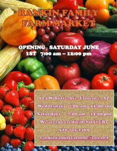 Rankin Family Farmers Market @ Florence | Arizona | United States