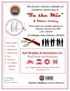 """""""In the Mix"""" Chamber Mixer and Ribbon Cutting, Hosted by Kari Bradley and Associates @ Kari Bradley and Associates   Florence   Arizona   United States"""