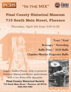 "April ""In the Mix"" at the Pinal County Historical Society @ Pinal County Historical Society  