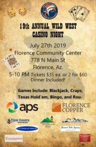 19th Annual Casino Night @ Florence Library and Community Center | Florence | Arizona | United States