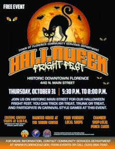 Halloween Fright Fest @ Historic Downtown Florence | Florence | Arizona | United States
