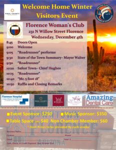Welcome Home Winter Visitor Event @ Florence Womans Center | Florence | Arizona | United States