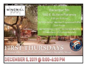 First Thursdays December Mixer at the Windmill Winery @ Windmill Winery | Florence | Arizona | United States