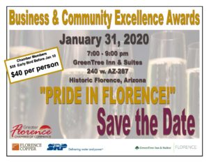 2020 Business and Community Excellence Awards @ Green Tree Inn & Suites | Florence | Arizona | United States