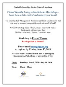 Virtual Healthy Living with Diabetes Workshop @ Virtual Call