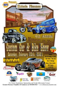 4th Annual Memories on Main St. Car and Bike Show @ Main St. Florence Arizona