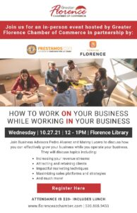 Lunch and Learn How to Work on your Business @ Florence Community Center | Florence | Arizona | United States